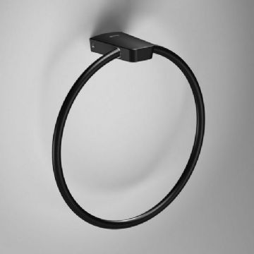Sonia S6 Towel Ring Black 168224